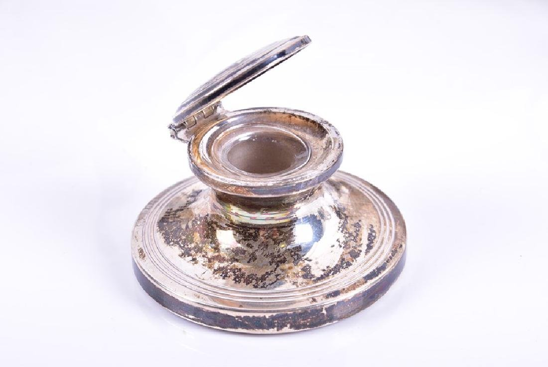 A group of assorted items of silver  including a three - 6