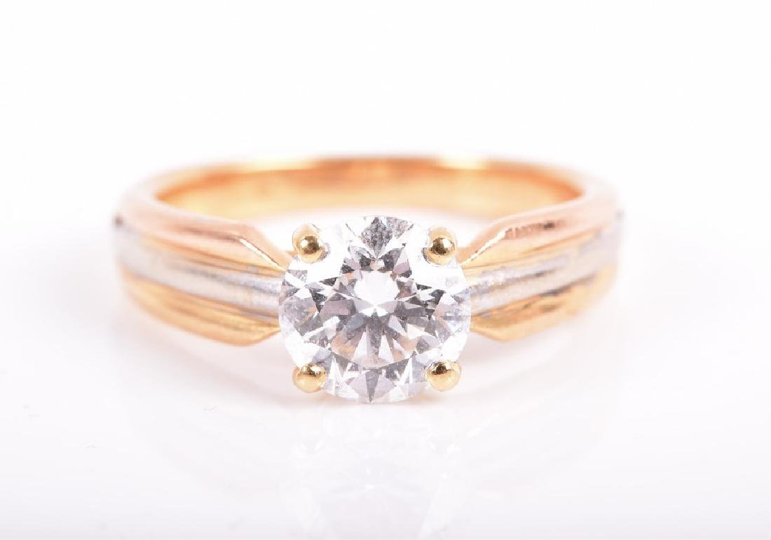 Cartier. A solitaire diamond ring   set with a