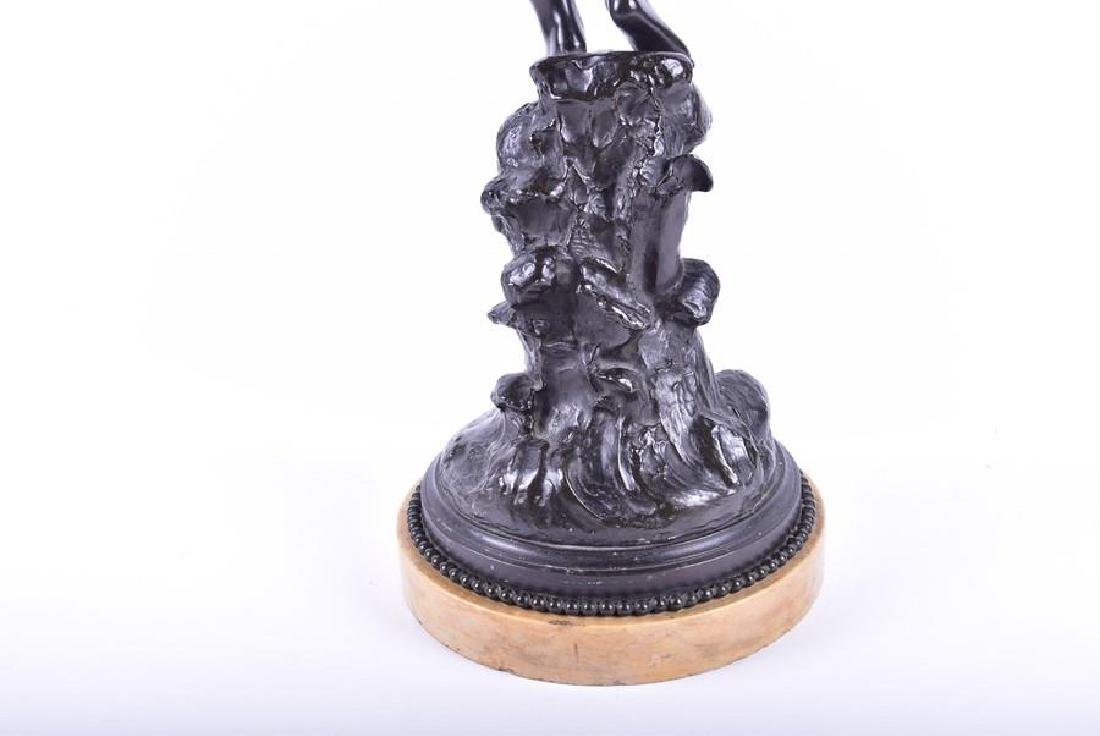 A late 19th/early 20th century patinated bronze - 5