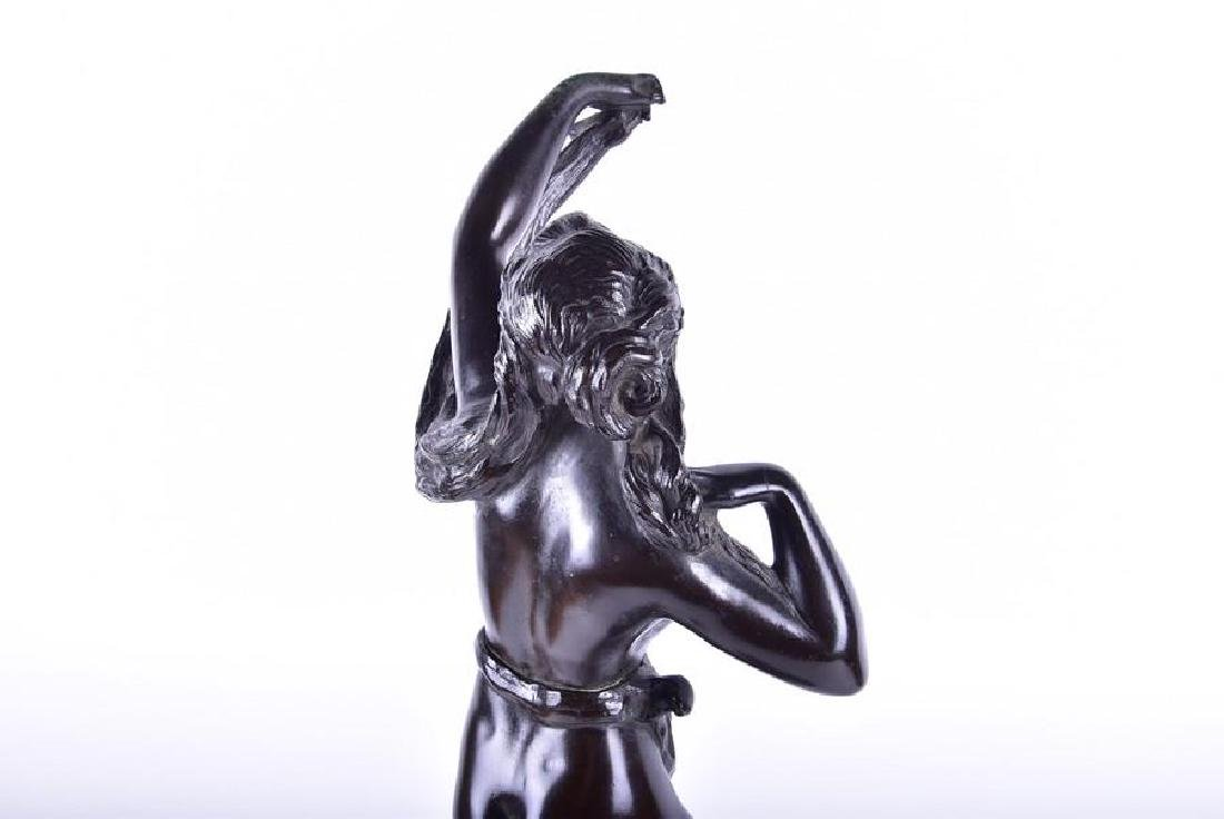 A late 19th/early 20th century patinated bronze - 6