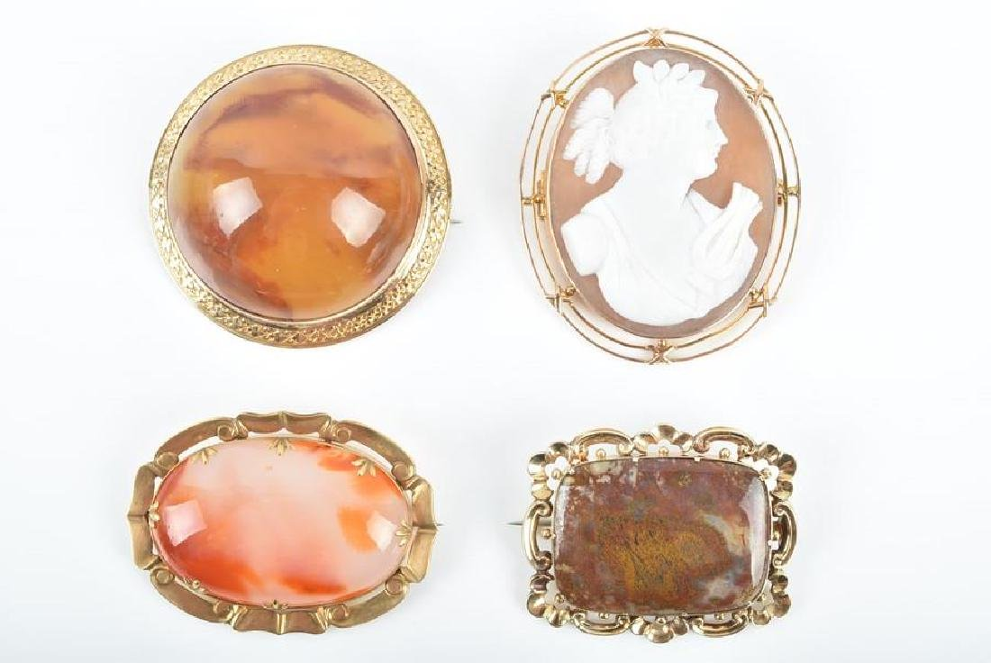 A group of late 19th / early 20th century brooches