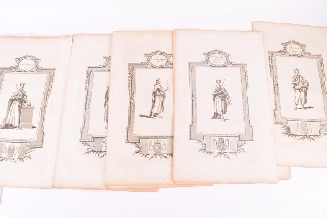Nineteen 18th century copper plated engravings   circa