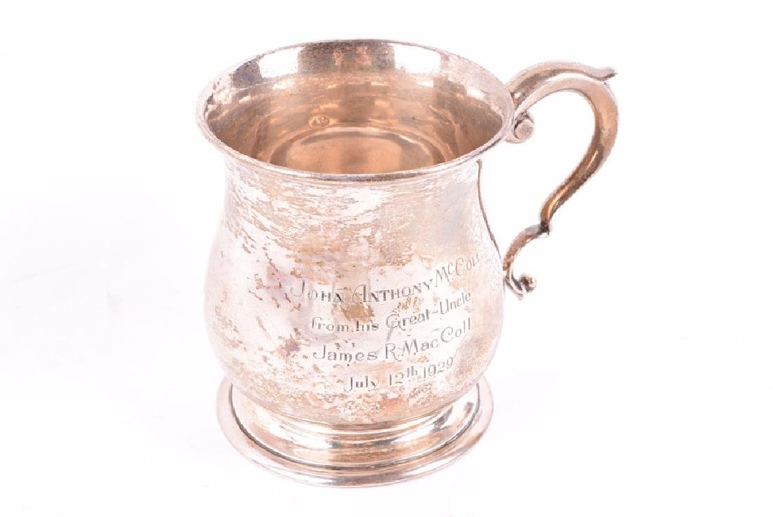 A early 20th century sterling silver christening cup - 3