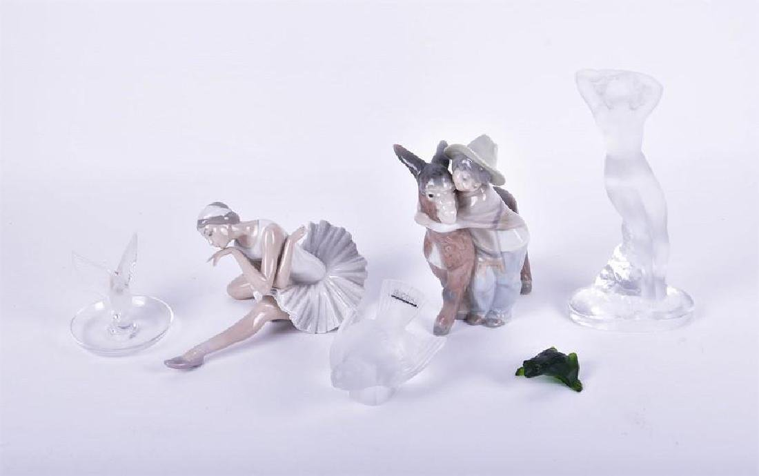 A Lladro figurine modelled as a ballerina  together