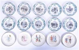 A group of ten French Sarreguemines faience plates