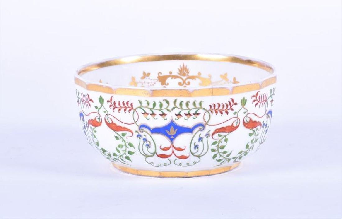 A 19th century Russian Popov factory porcelain bowl