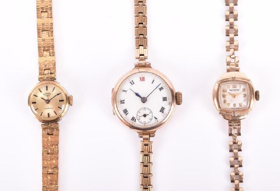 A 9ct yellow gold ladies Rotary wristwatch  with yellow