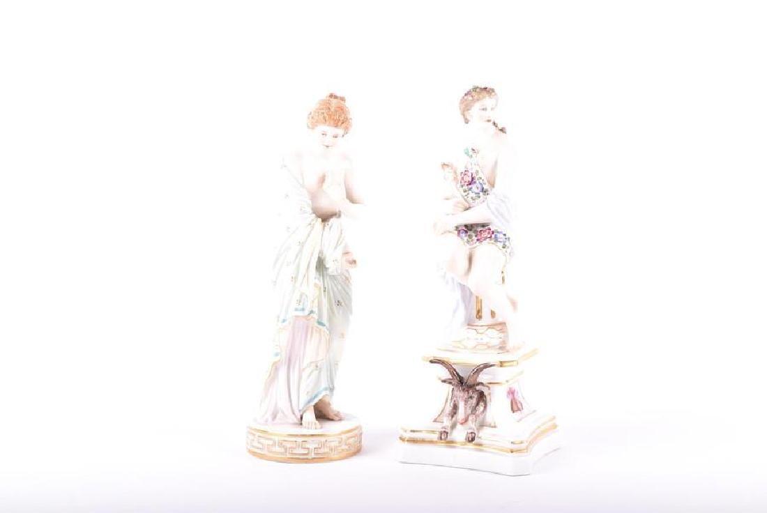 A 19th century Meissen porcelain allegorical figure