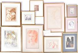A group of framed & glazed British watercolours and