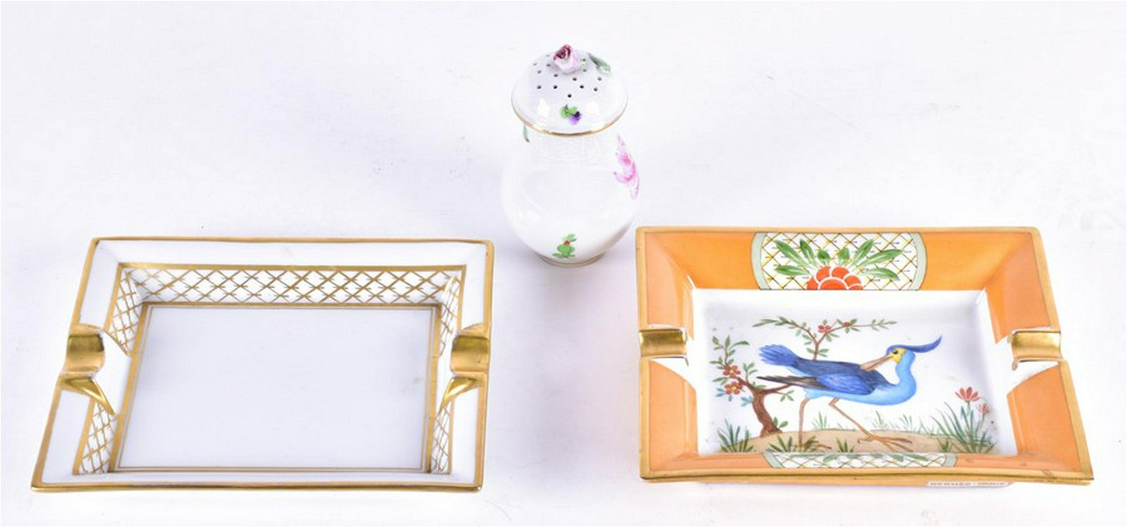 A Hermes rectangular ashtray decorated with a mythical