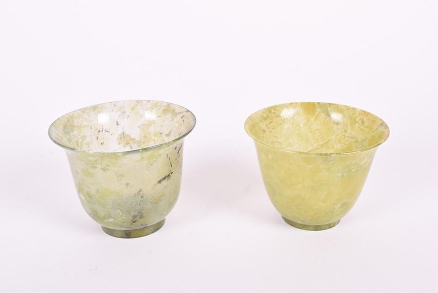 A pair of similar 19th century Chinese spinach jade