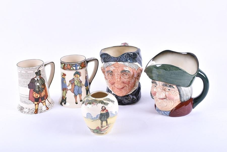 A small collection of Royal Doulton ceramic jugs  to