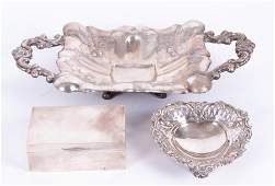 A late Victorian silver heart shaped dish  London