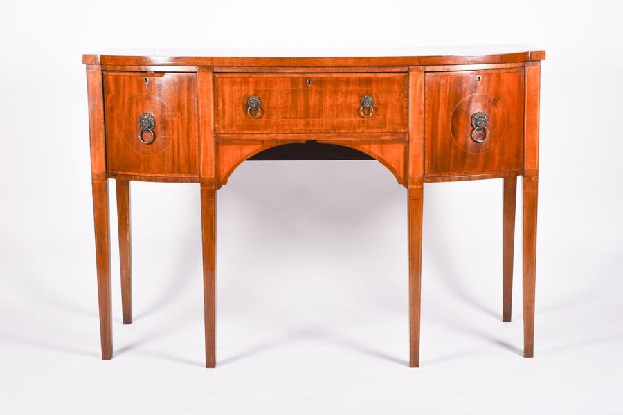 A George III style mahogany inlaidsideboard  fitted