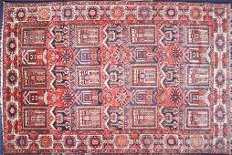 A large Caucasian hand woven wool carpet in the Kuba