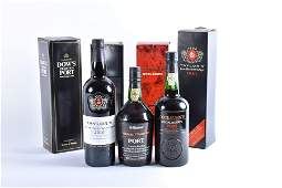 Four boxed bottles of port comprising: Taylor's Late