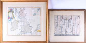 A hand coloured map of 'Magna Britannia complectens