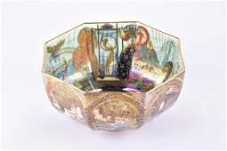 A rare Wedgwood Fairyland Lustre octagonal bowl
