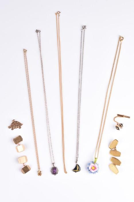 A small group of jewellery items  to include a pair of