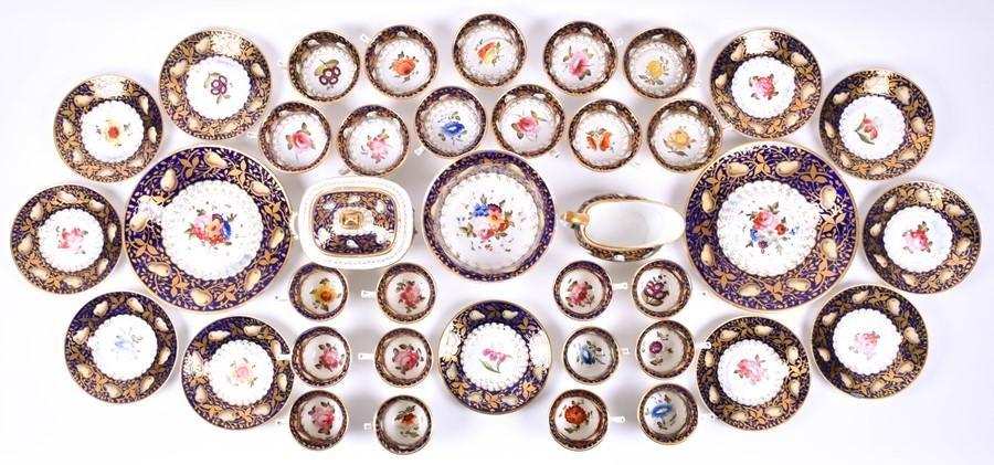 An early 19th century Coalport porcelain tea and coffee