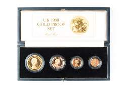 An Elizabeth II gold proof coin set  comprising four