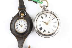 A Victorian silver pair cased pocket watch, London 1875