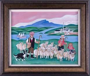†Alfred Daniels RBA RWS (1924-2015) British 'Sheep