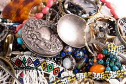 A large collection of costume jewellery to include a