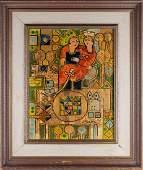 Sadegh Tabrizi b 1938 Iranian depicting a couple