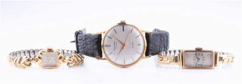 A gent's 9 carat gold Rotary wristwatch with 17 jewel
