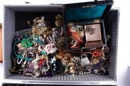 A large quantity of various costume jewellery items