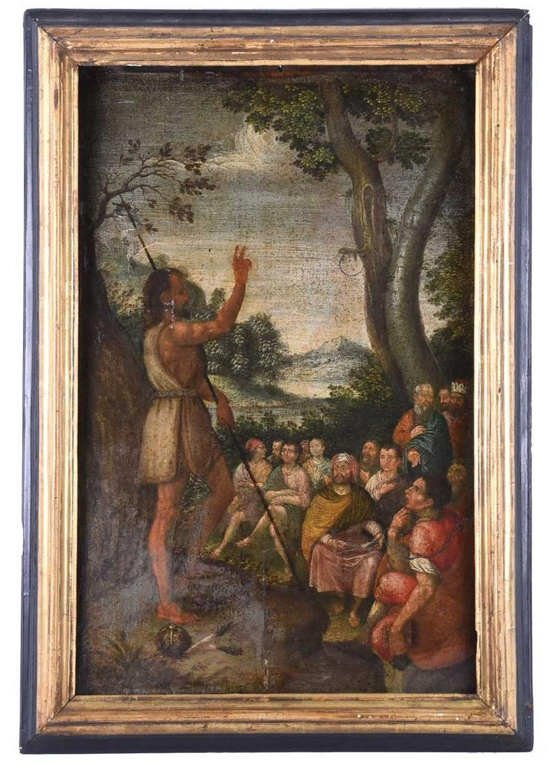 18th century North Italian School, The Preaching of St