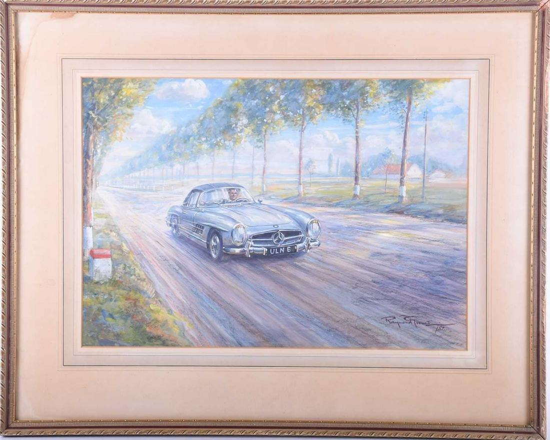 Raymond Groves (1913 - 1958), 'Mercedes sports car on