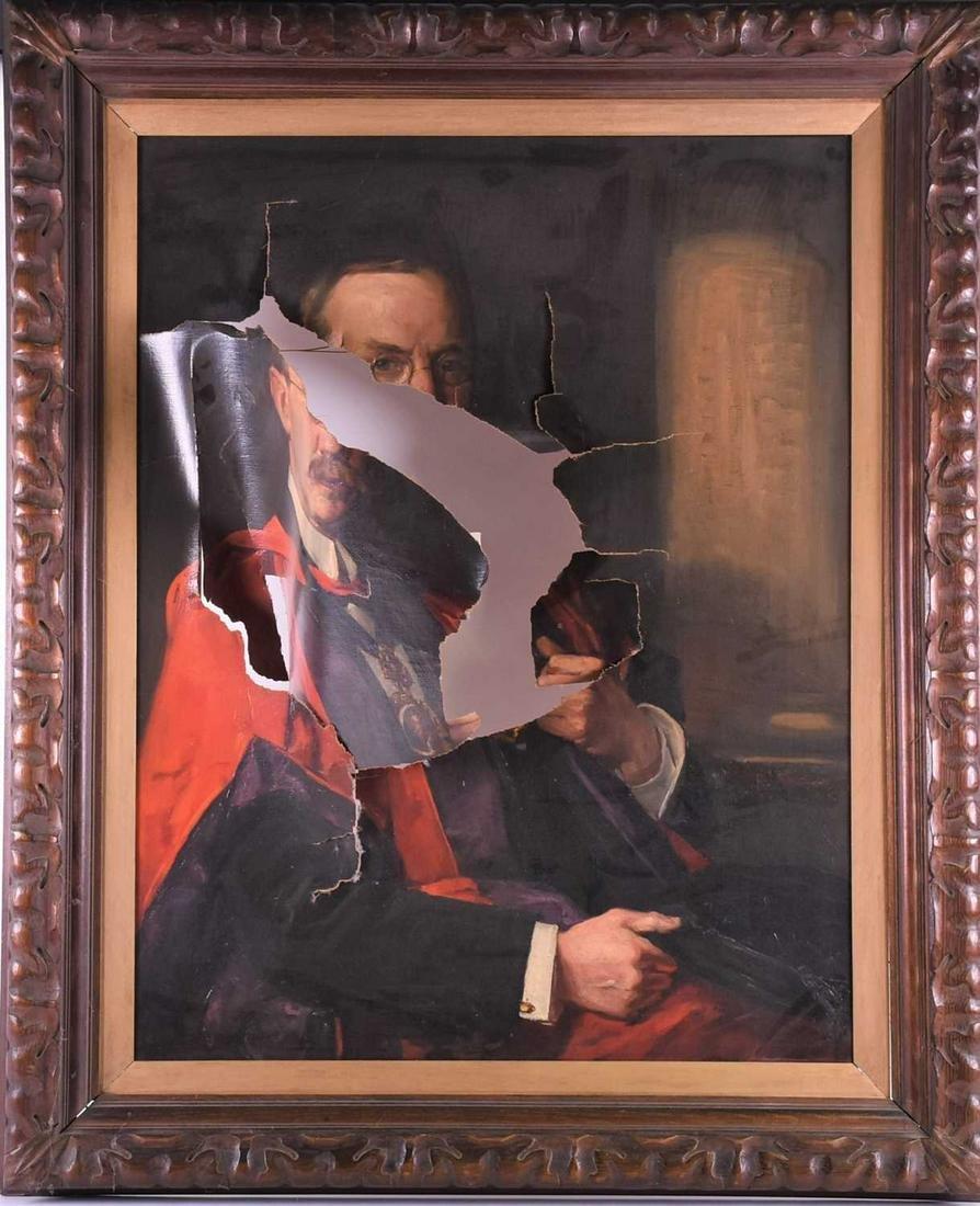 Robert J Abraham (19/20th century), portrait of a