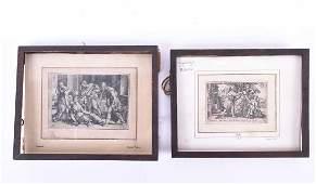 George Pencz ( 1500 - 1550), 'Abraham & Agar' &