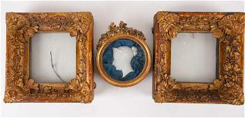A pair of 19th century giltwood picture frames, the