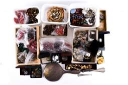A group of costume jewellery items to include a large