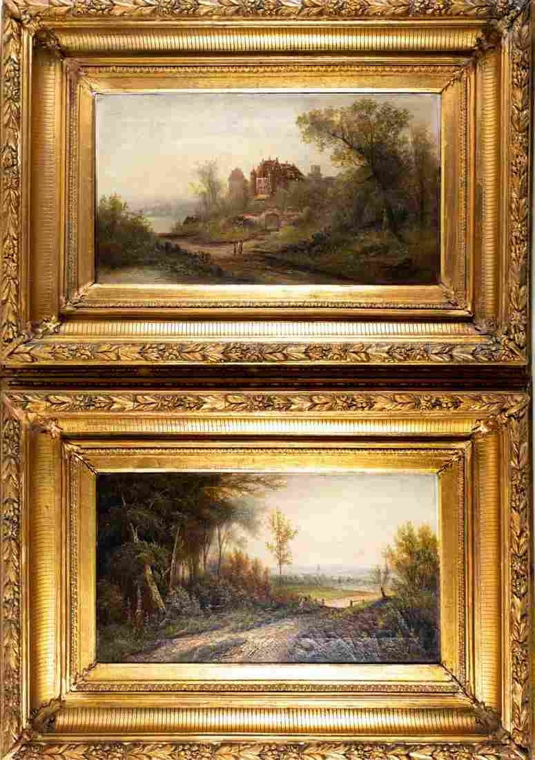19th century Continental School, two landscapes,