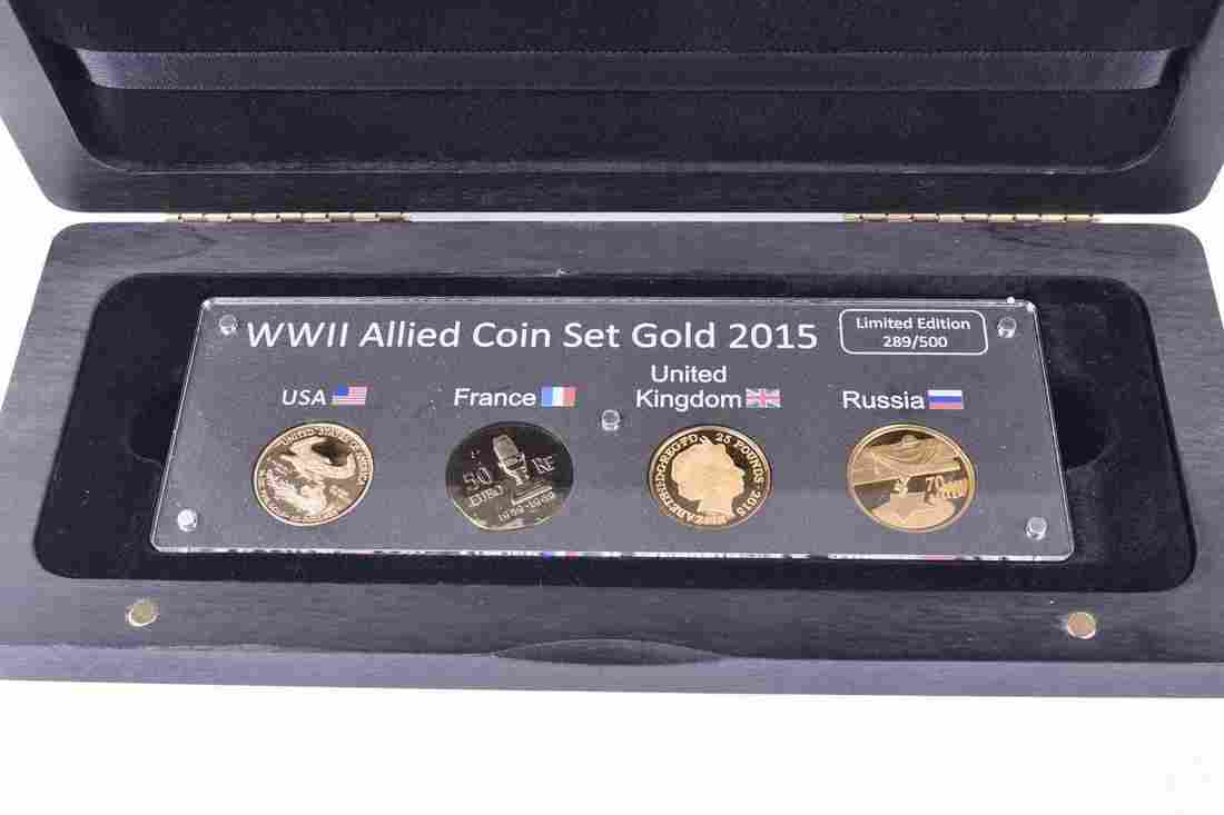 Royal Mint. A WWII Allied gold coin set comprising 2015