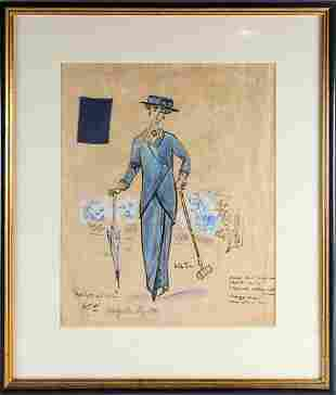 A theatrical costume design by Cecil Beaton