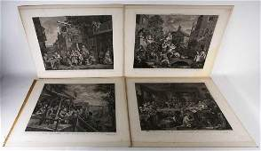 After William Hogarth a set of four copper plate