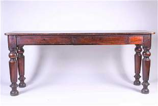 A Victorian mahogany side table, the rectangular top
