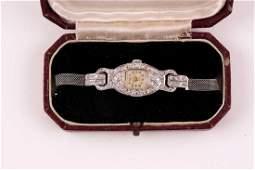 A platinum and diamond Art Deco ladies cocktail watch,
