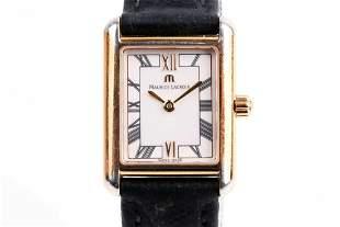A ladies Maurice Lacroix gold plated quartz wristwatch,