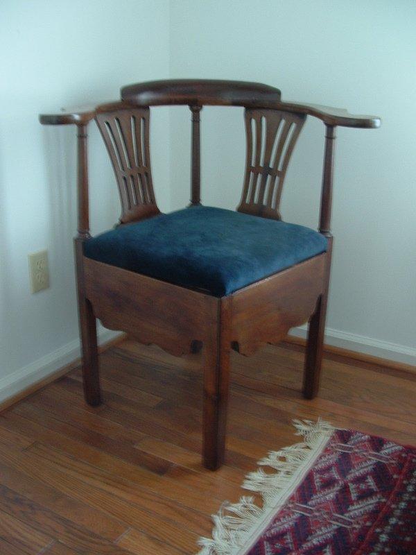 1001: Mahogany Chippendale Corner Chair