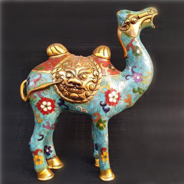 Cloisonne enameled bronze Camel