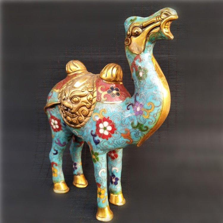 Cloisonne enameled bronze Camel - 2