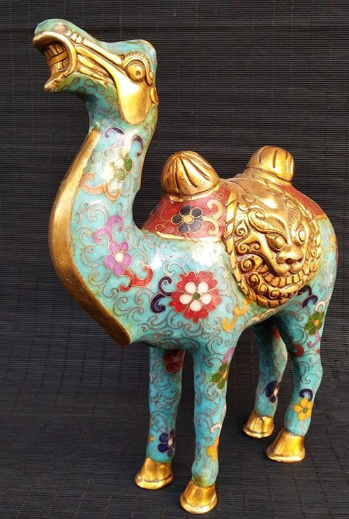 Cloisonne enameled bronze Camel - 4
