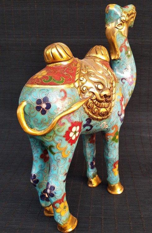 Cloisonne enameled bronze Camel - 5