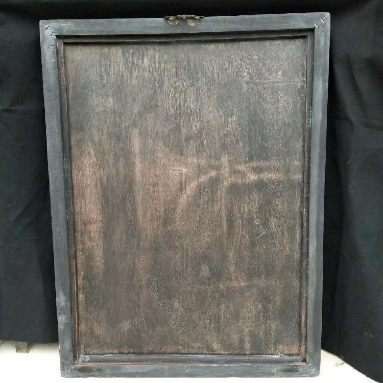 Wooden Frame Painted Tangka Wood Carving - 6
